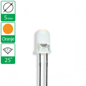 Oranje LED 25 graden 5mm