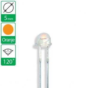 Oranje LED 120 graden 5mm