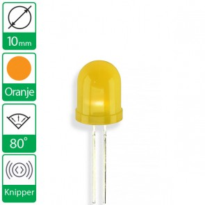 Oranje knipper LED 80 graden 10mm
