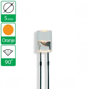 Oranje LED 90 graden 5mm