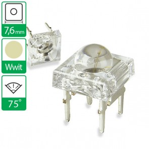 Warm Witte LED 75 graden 7,6mm