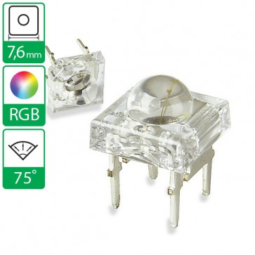 Full color LED 75 graden 7,6mm CC