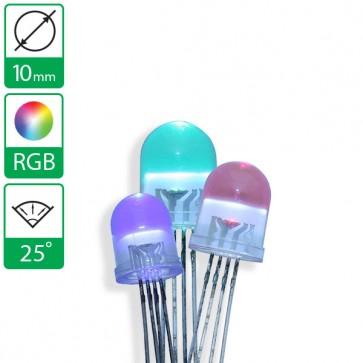 Full color LED 25 graden 10mm CA