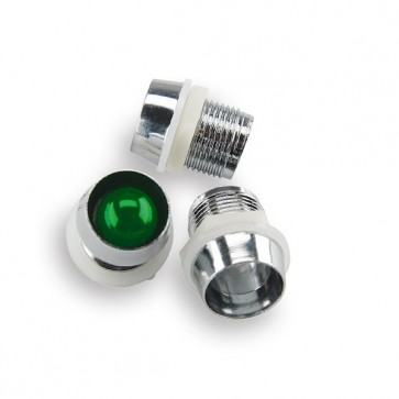 25x 10 mm. LED Houder Chrome (low cost)