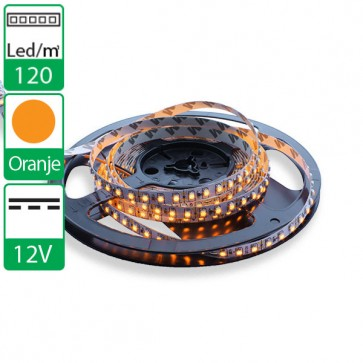 1m 120 Leds 12V SMD flexibele LED strip oranje