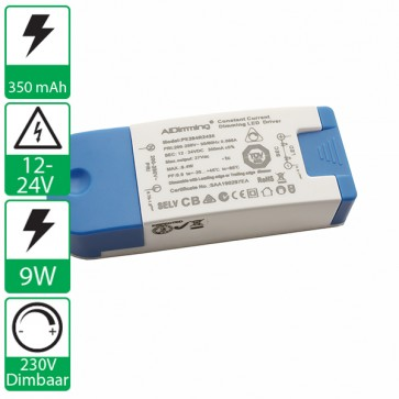350mA 12-24V, 230v dimbare AJDimming voeding