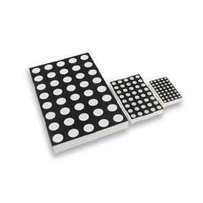 37 mm Dot (3mm) Matrix display Rood