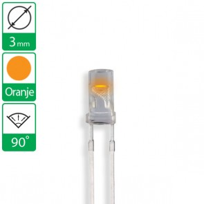 Oranje LED 90 graden 3mm