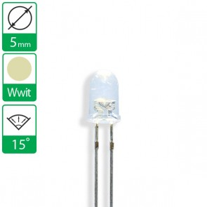 Warm Witte LED 15 graden 5mm