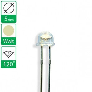 Warm Witte LED 120 graden 5mm