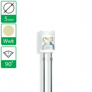 Warm Witte LED 90 graden 5mm