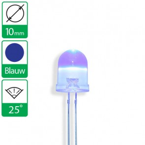Blauwe LED 25 graden 10mm