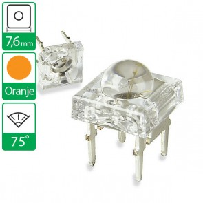 Oranje LED 75 graden 7,6mm