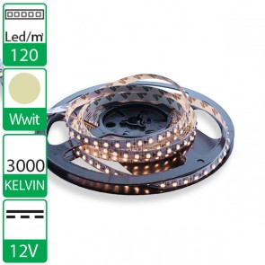 1m 120 Leds 12V SMD flexibele LED strip WARM wit 3000K