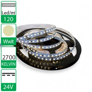 1m 120 Led's flexibele LED strip 24V WARM wit 2700K