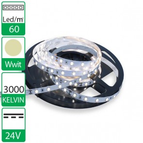 1m 60 Led's flexibele LED strip 24V WARM wit 3000K