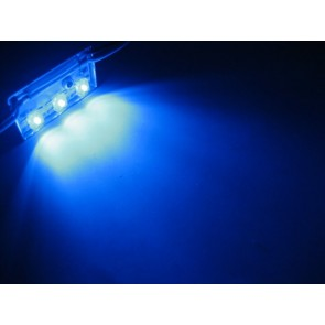 3x hyperflux aluminium LED strip blauw