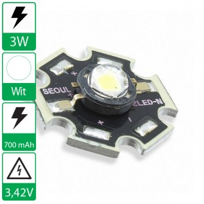 3 watt P4 Seoul Semiconductor LED naturel-wit op ster
