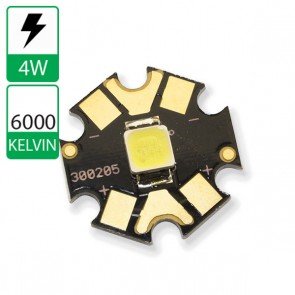 4 watt CREE Power LED op ster 6000K
