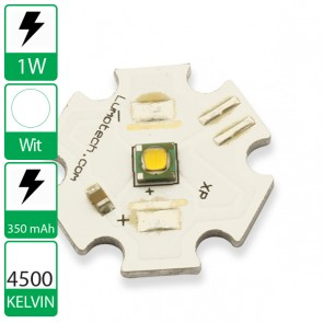 1 watt CREE XP Power LED op ster 4500K