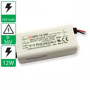 350mA 9-36V 12W Mean well voeding APC-12-350