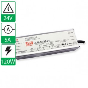 24V 5A 120W Mean well voeding met power factor correctie HLG-120H-24