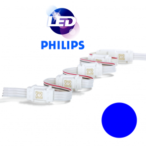 PHILIPS Blauwe waterdichte LED module met 1 power LED