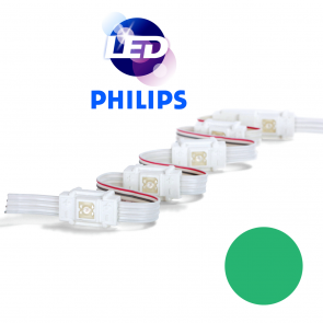 PHILIPS Groene waterdichte LED module met 1 power LED LP W8000