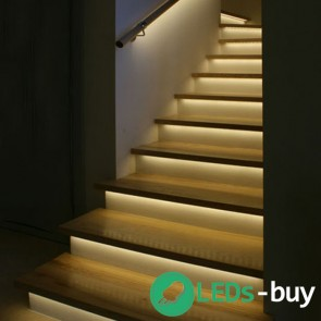 Trapverlichting 60cm SMD 60 LEDs/mtr flexibele LED strip Warmwit