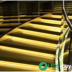 Trapverlichting 120cm SMD 60 LEDs/mtr flexibele LED strip Warmwit