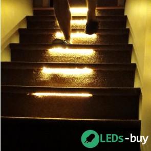 Trapverlichting 30cm SMD 60 LEDs/mtr flexibele LED strip Warmwit