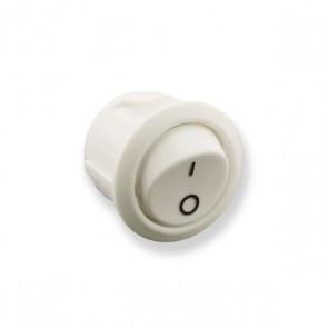 Aan/uit druk-tuimel schakelaar wit 10A 250V max