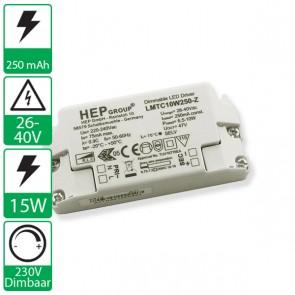 250mA 26-40V 10W, 230v dimbare HEP voeding LMTC10W250-Z