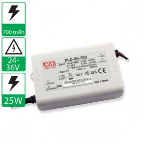700mA 24-36V 25W Mean well voeding PLD-25-700
