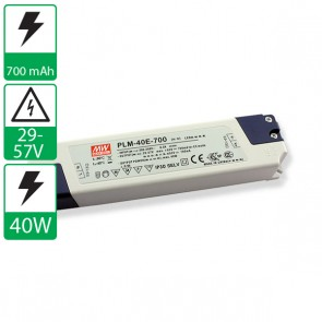 700mA 29-57V 40W Mean Well voeding PLM-40E-700
