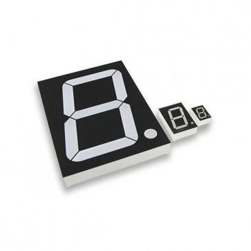 2,6cm Segment display Wit CA