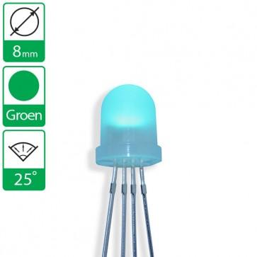 Groene LED 25 graden 8mm diffuus