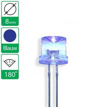 Blauwe LED 180 graden 8mm