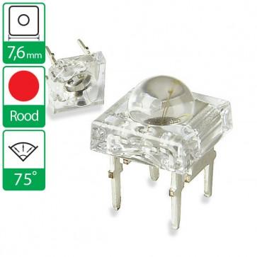 Rode LED 75 graden 7,6mm