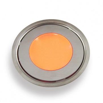 Vloerspot oranje RVS