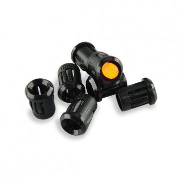 25x 8mm LED Houder Plastic