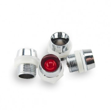 25x 8 mm. LED Houder Chrome (low cost)