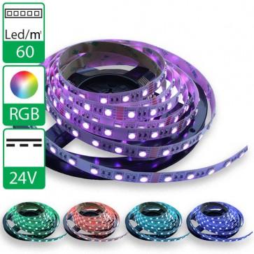 1m 60Leds flexibele ledstrip 24V RGB