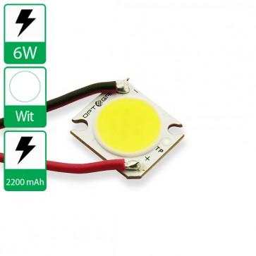 6 Watt COB power LED wit 6500K