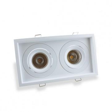 Luminio armatuur dubbel vierkant 110x2000mm kantelbaar verzonken
