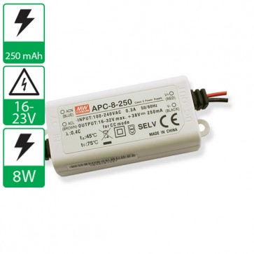 250mA 16-32V 8W Mean well voeding APC-8-250
