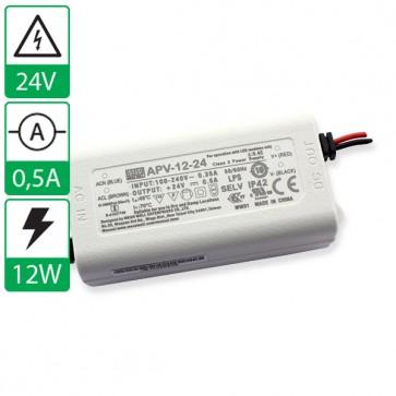 24V 0,5A 12W Mean well voeding APV-12-24