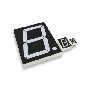 1,3cm Segment display Wit CA