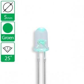 Groene LED 25 graden 5mm