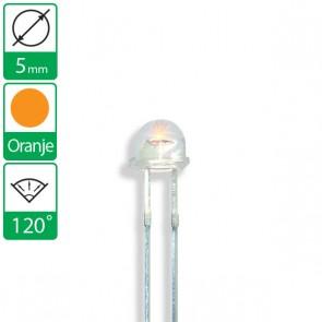 Oranje LED 120 graden 5mm